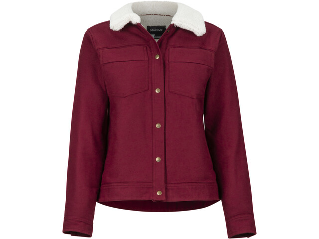 Marmot Ridgefield Sherpa Lined Langarm Shirt Damen claret
